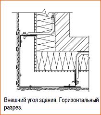 Монтаж керамогранита на внешний угол здания